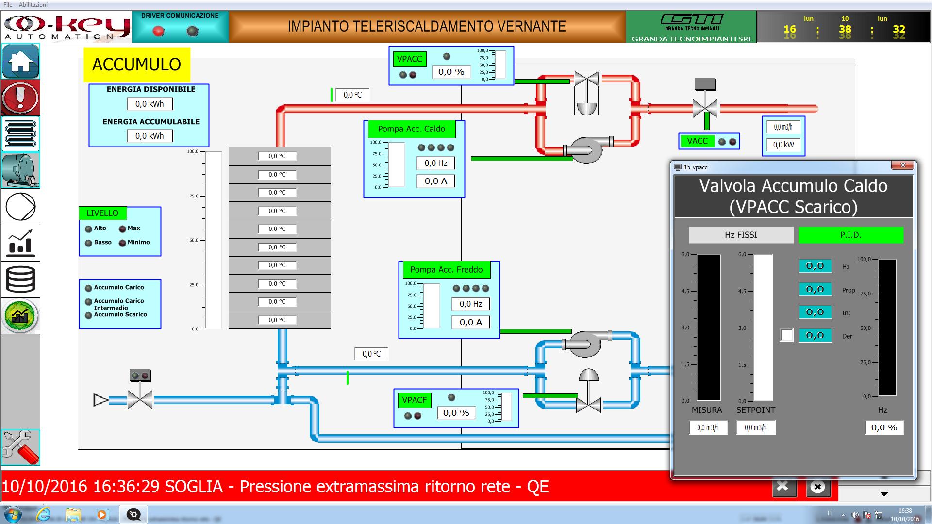 Supervisione impianto riscaldamento con gestione remota